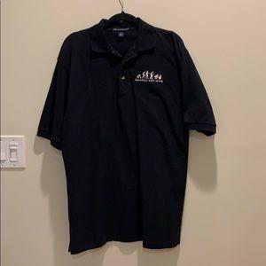Men's polo shirt with computer design